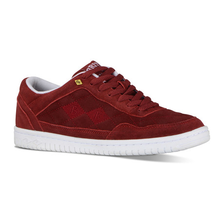 Quilts Sneaker // Burgundy + White (US: 7)