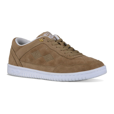 Quilts Sneaker // Dark Taupe + White (US: 7)