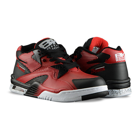 Control Mid Sneaker // Mars Red + Black + White (US: 7)