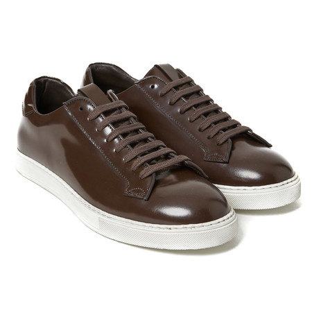 Patent Leather Sneaker // Dark Brown