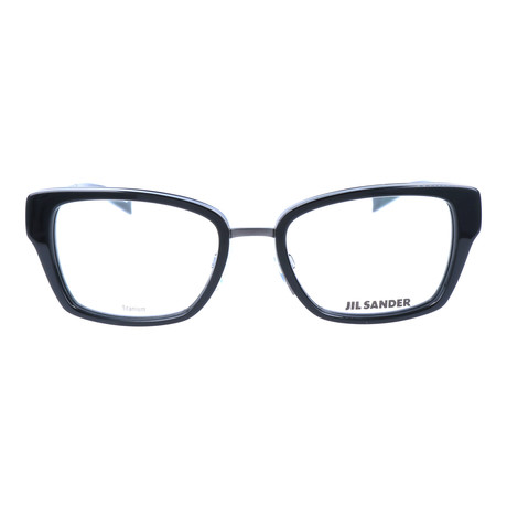 Women's J2004 Optical Frames // Dark Gunmetal + Black