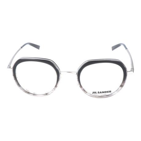 f3d69221623 Thick Inlaid Metal Rim Circular Frame    Black + Silver