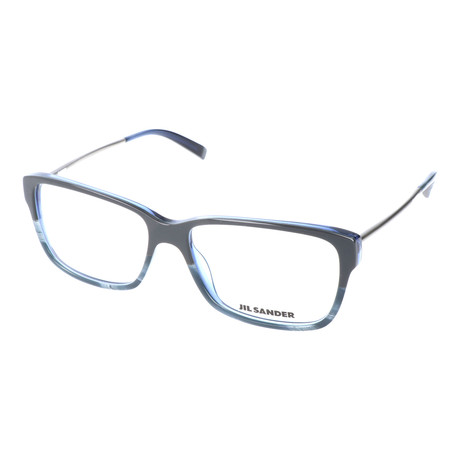 Unisex J4004 Optical Frames // Gray Blue Gradient + Light Gunmetal