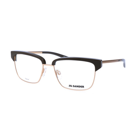 Unisex J2011 Optical Frames // Gold + Brown