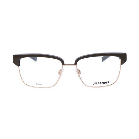 Unisex J2011 Optical Frames // Gold + Brown