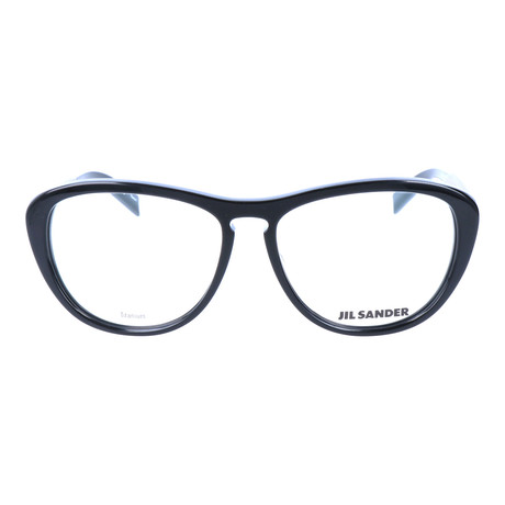 Women's J4013 Optical Frames // Black + Silver