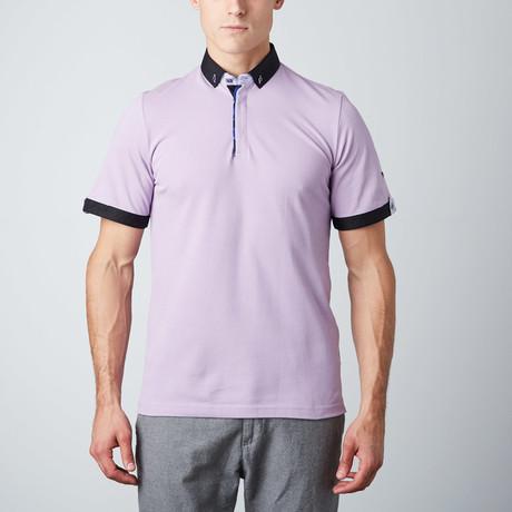 Contrast Trim Polo // Lavender (L)