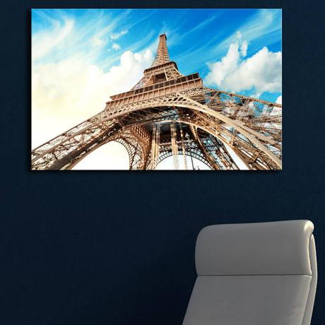 Eiffel Tower From Below // Blue