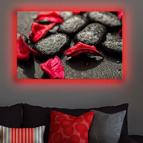 Rose Petals + Stones