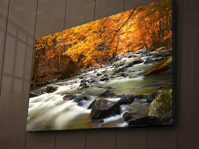 Photo of Wallity Backlit LED Canvas Prints Autumn River by Touch Of Modern