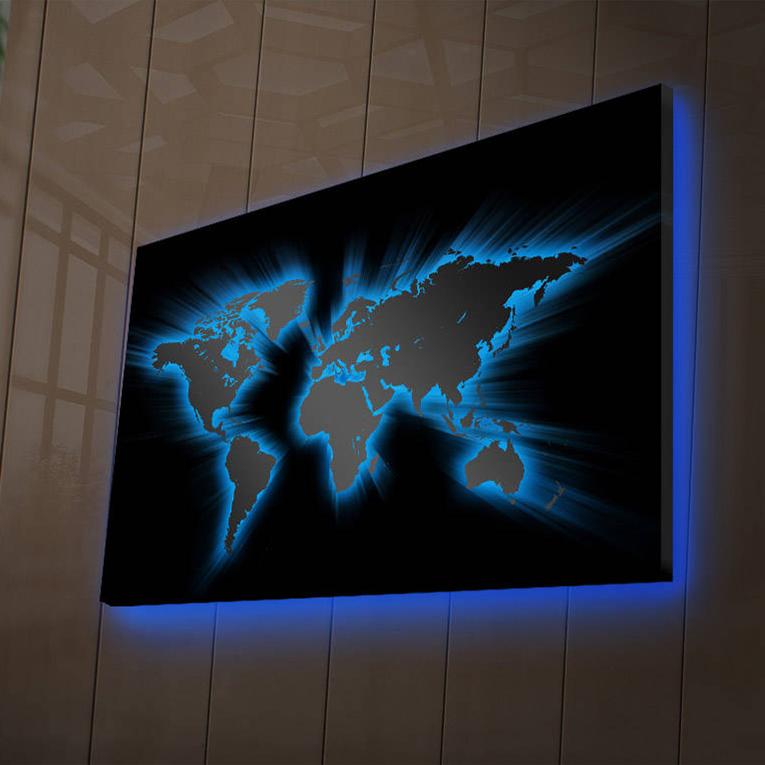 Led World Map.World Map Led Canvas Art Touch Of Modern