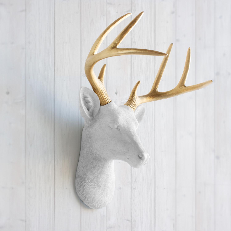 The Virginia Faux Deer Head White Wall Charmers