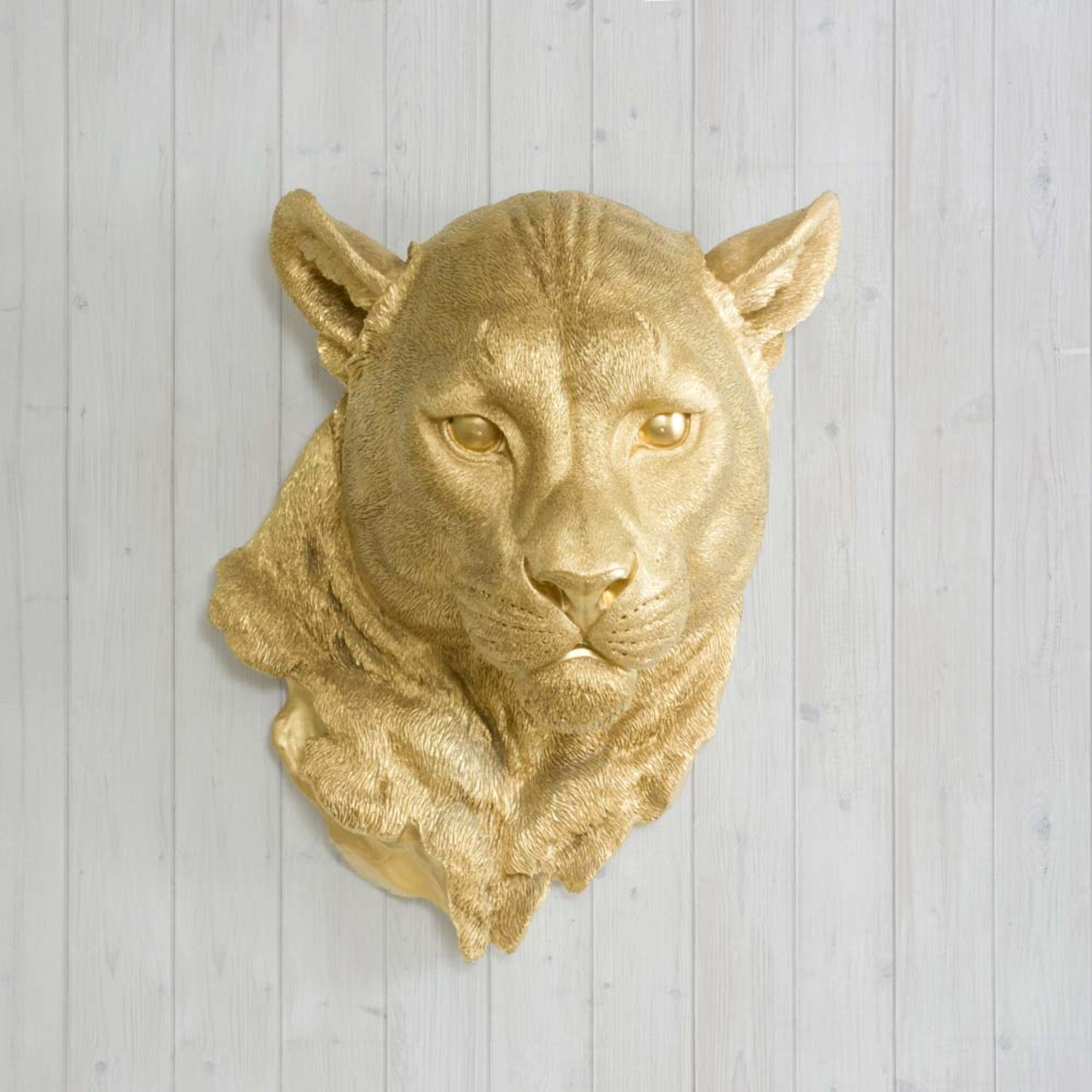 The Yosemite Faux Cougar Head (White) - Wall Charmers - Touch of Modern