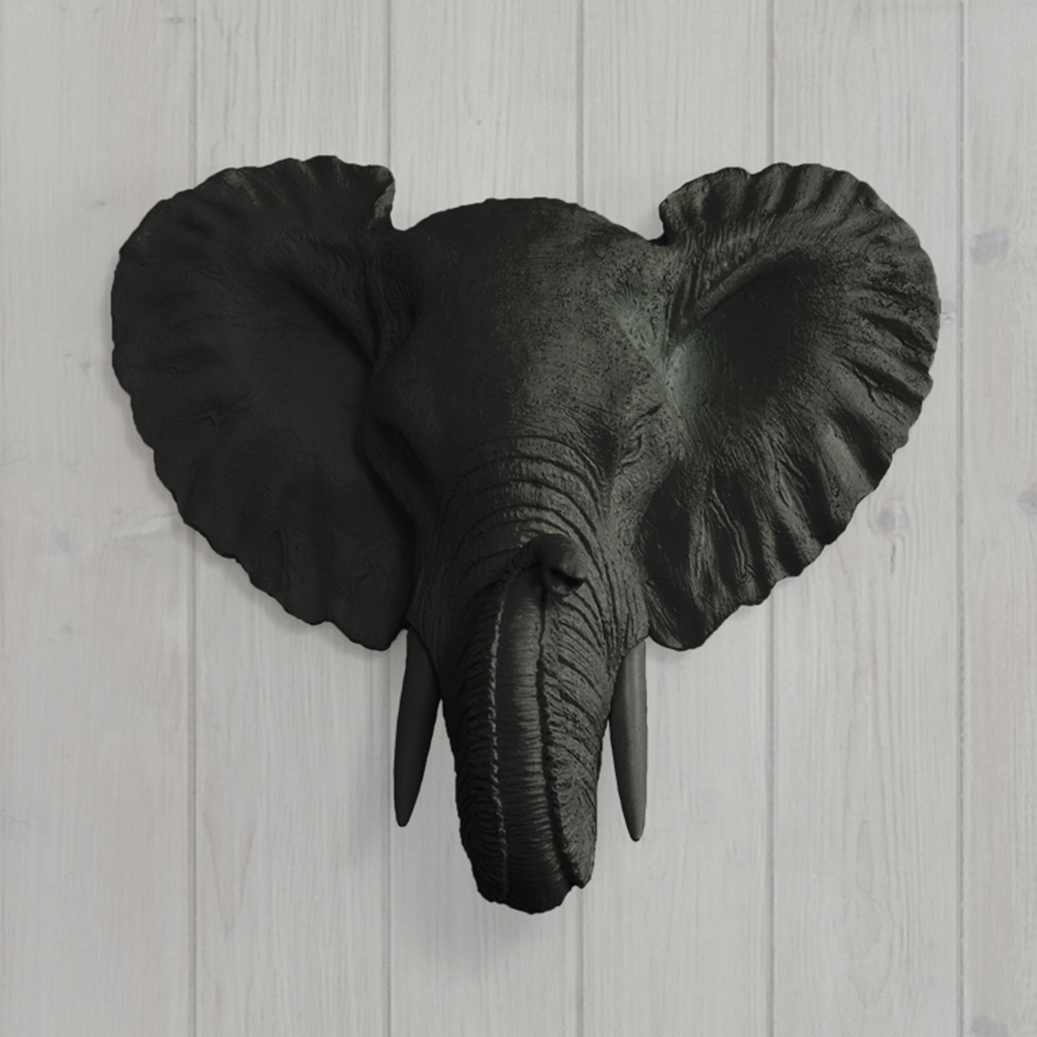 The Savannah Faux Elephant Head Mini Black Wall