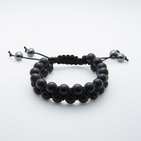 Jean Claude Jewelry // Double Striped Agate Bracelet // Black