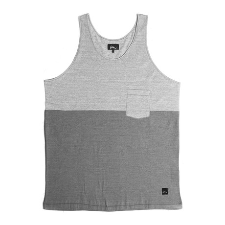 Particle Pocket Tank // Grey + Charcoal