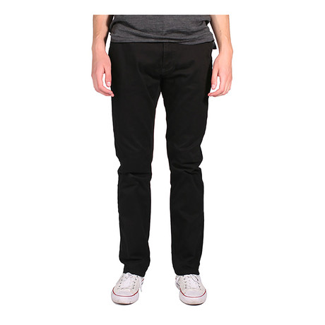 Federal Straight Fit Chino // Black (28WX32L)