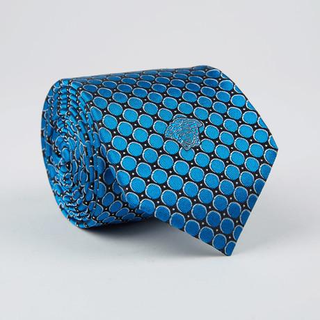 Dot + Circle Silk Tie // Bluette + Black