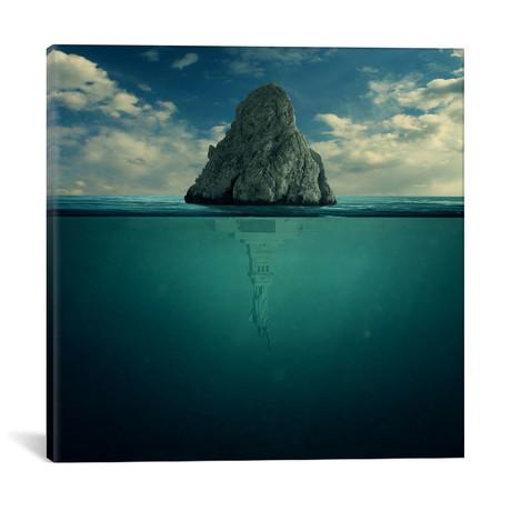 """Upside Down // Zoltan Toth (12""""W x 12""""H x 0.75""""D)"""