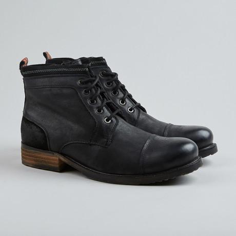 Spy Sea Cap-Toe Boot // Black