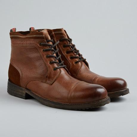 Spy Sea Cap-Toe Boot // Cognac