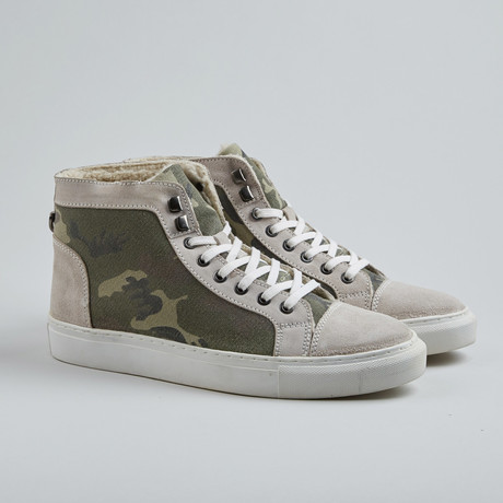 Too Day Camo High-Top Sneaker // Off White