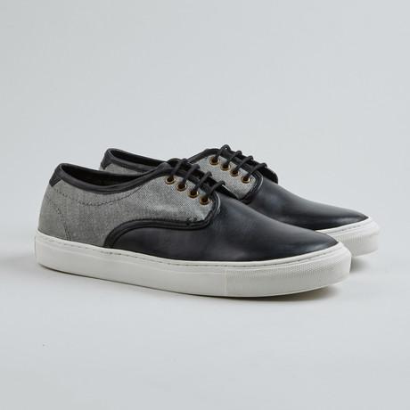 Sea Hound Low-Top Sneaker // Light Grey + Black