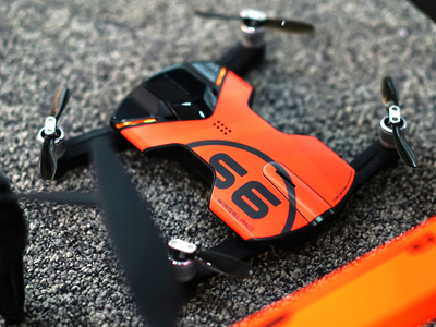 Wingsland Tech The Worlds Smallest Drone S6 Pocket Drone // Outdoor Edition (black)