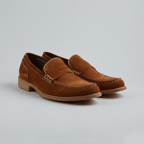 Village Six Penny Loafer // Rust