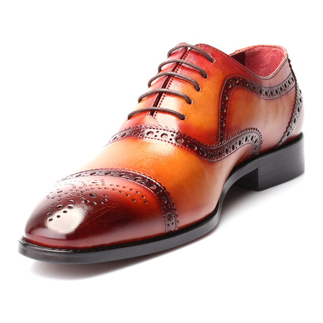 Mehmet Perforated Captoe Oxford Brogue // Antique Tobacco