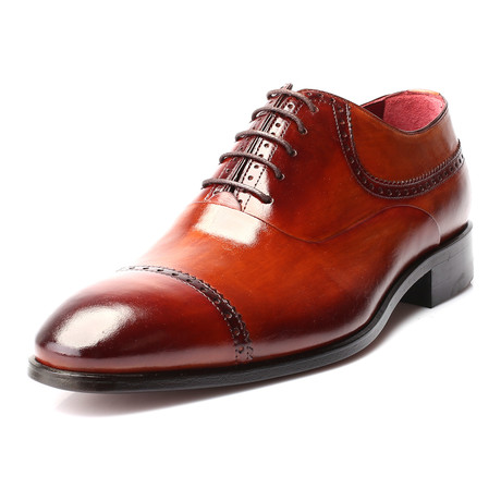 Engin Captoe Perforated Oxford Brogue // Antique Tobacco