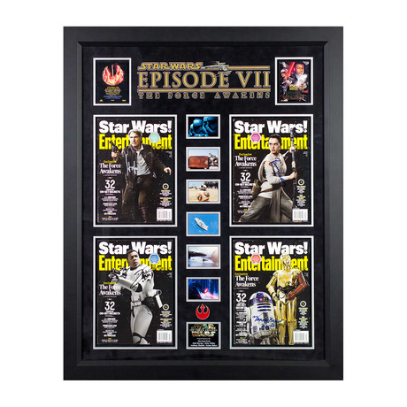 Signed + Framed Magazine Collage // Star Wars Episode VII: The Force Awakens
