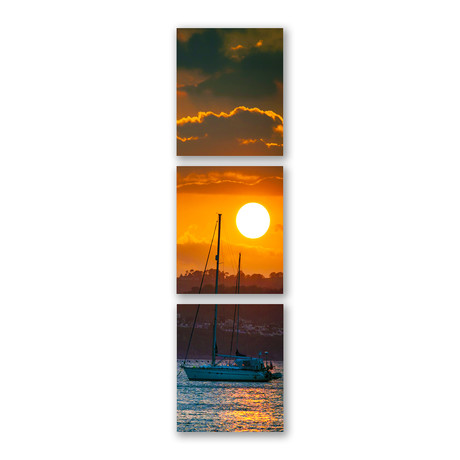Sunset Sail Triptych