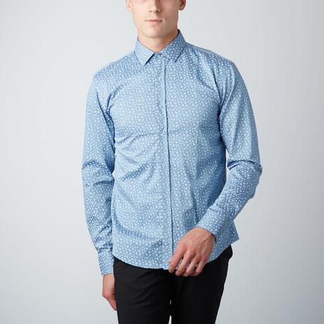 Sprigs Button-Up Shirt // Blue