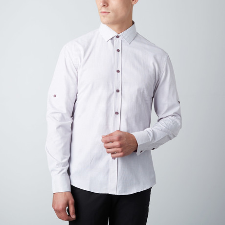 Microcircles Button-Up Shirt // Lavender