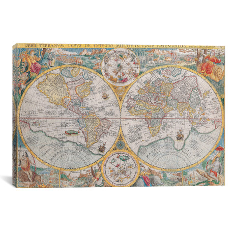 Antique Map of The World // 1594