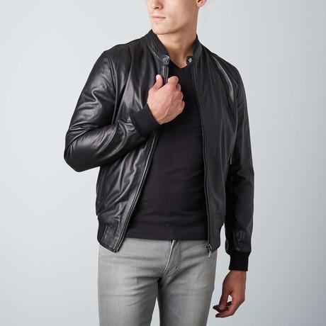 Gaudi Leather Bomber // Black (Euro: 54)