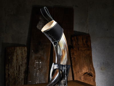photo of Polished Short Drinking Horn + Leather Holster by Touch Of Modern
