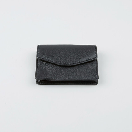 Print Nappa Card Holder // Black