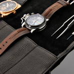 Dapperman // Cowhide Leather Watch Roll (Black)