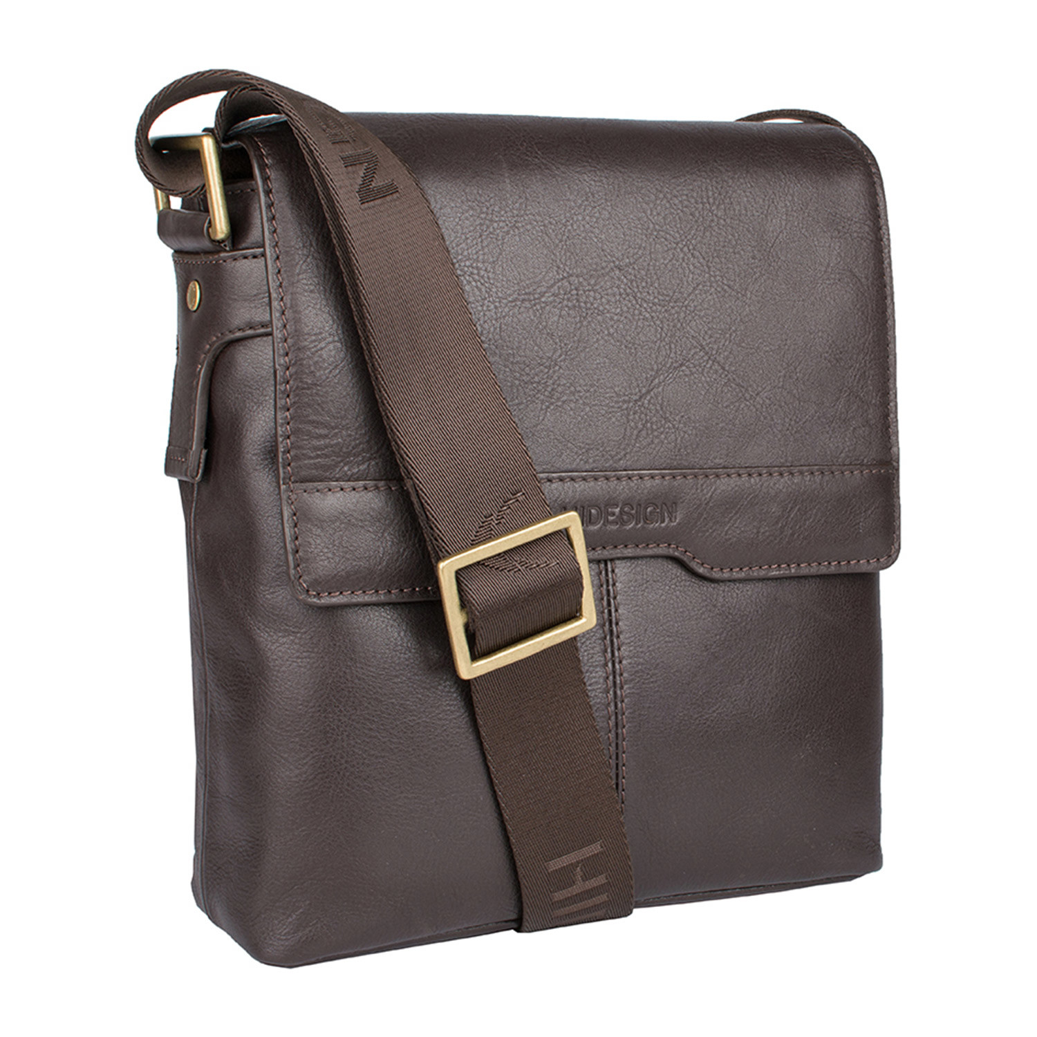 Helvellyn Leather Crossbody Brown Small Hidesign