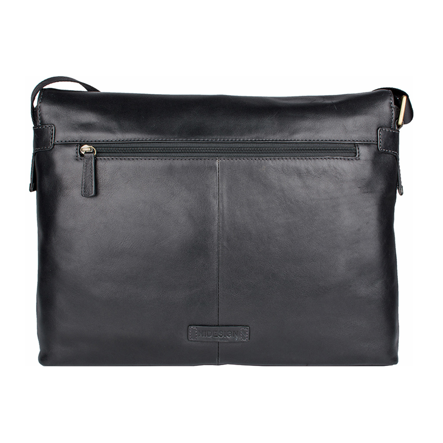 Helvellyn Leather Messenger Black Medium Hidesign
