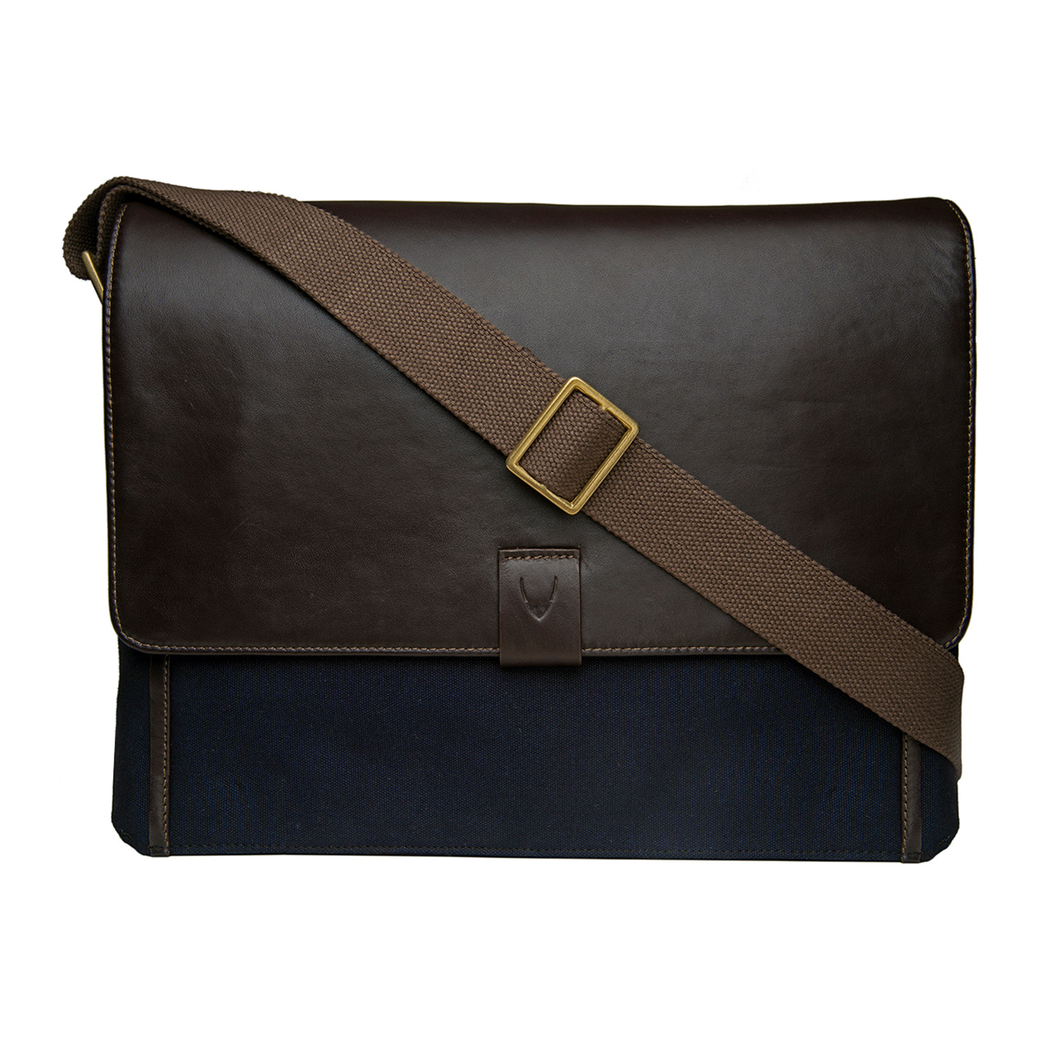 26061d5974 Aiden Canvas + Leather Laptop Messenger Bag    Blue + Brown - HiDesign -  Touch of Modern