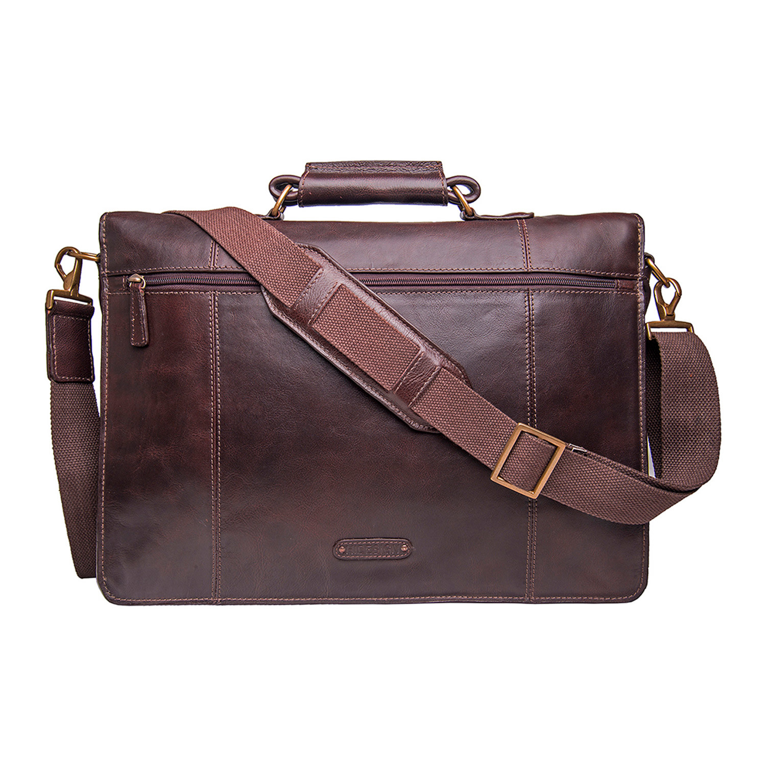 Parker Leather Briefcase Brown Large Hidesign
