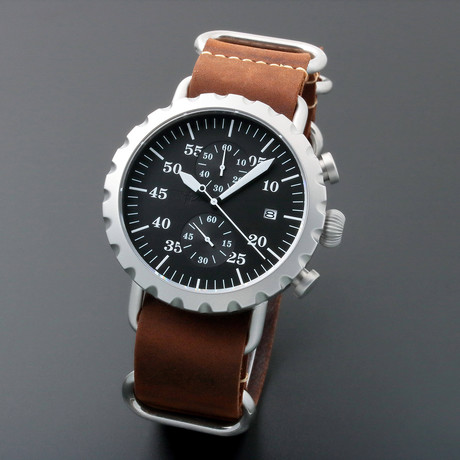Peregrine Squadron Pilot Chronograph Quartz // Limited Edition // PSA-CH-SB-1AW // Unworn