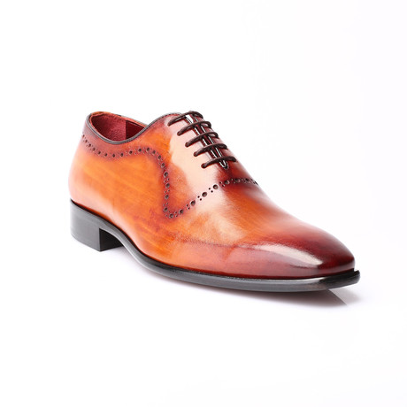 Onur Dotted Perforation Oxford // Antique Tobacco