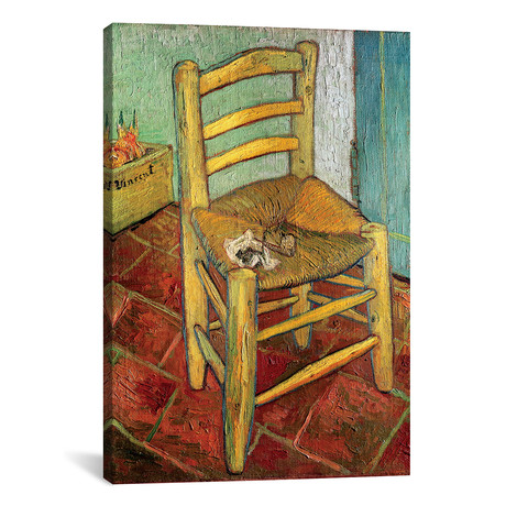 "Vincent's Chair, 1888 (18""W x 26""H x 0.75""D)"