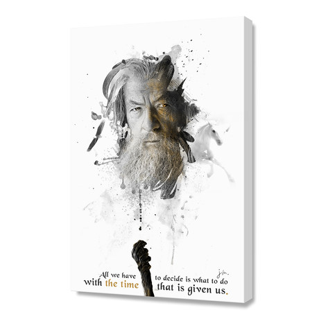 Shadow Collection // Gandalf // Stretched Canvas
