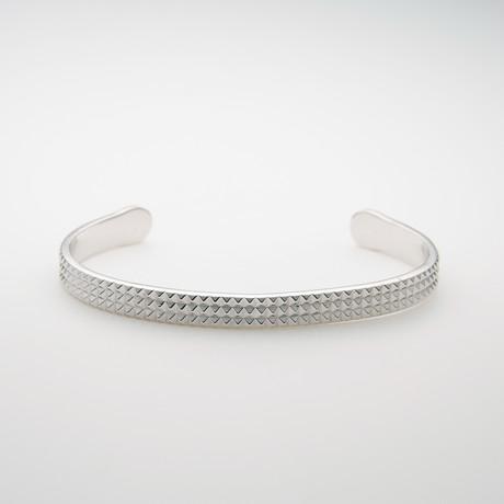 Bracelet // 6mm Pyramid Polished Silver