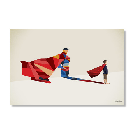 "Walking Shadow, Hero (24""W x 16""H x .045""D // Aluminum Print)"